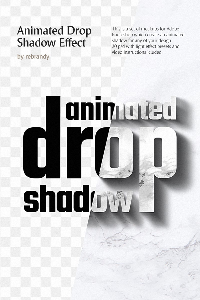 """Animated Drop Shadow Effect"" Product Mockup №76911"