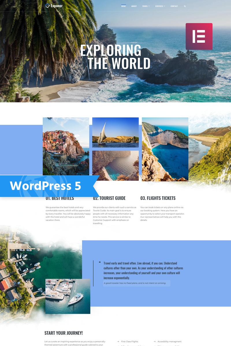 """Expanor - Travel Agency Multipurpose Modern Elementor"" Responsive WordPress thema №76956"
