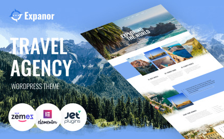 Expanor - Travel Agency Multipurpose Modern WordPress Elementor Theme WordPress Theme