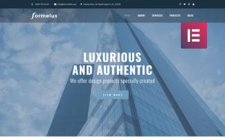 Formelus - Architecture Multipurpose Modern WordPress Elementor Theme
