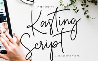 Kasting Script Signature Font