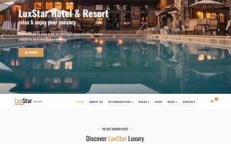 LuxStar Hotel & Resort Booking Joomla Template
