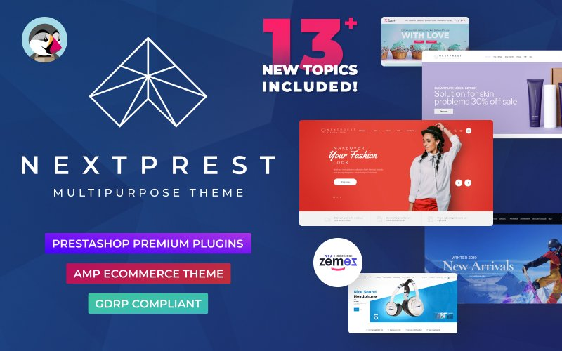 "Modello PrestaShop Responsive #76952 ""Nextprest  - Website Ecommerce Online Store"" - screenshot"