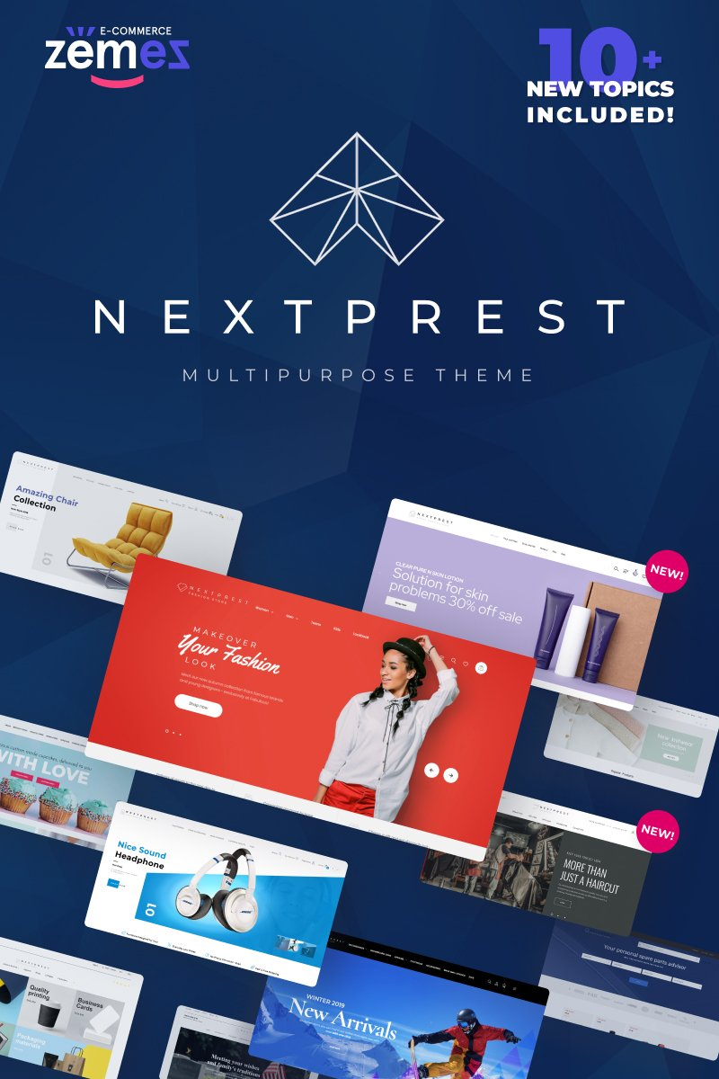 """Nextprest - Amp Multipurpose Ecommerce PrestaShop Theme"" 响应式PrestaShop模板 #76952"