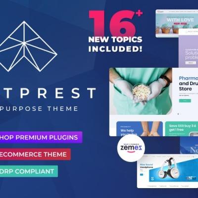 NextPrest - Víceúčelová čistá Ecommerce Bootstrap PrestaShop šablona #76952