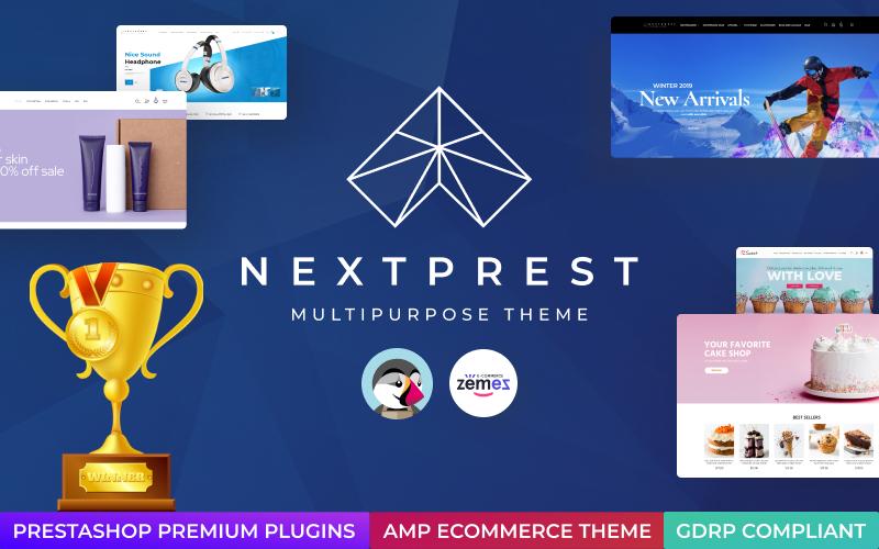 """Nextprest  - Website Ecommerce Online Store"" - адаптивний PrestaShop шаблон №76952"