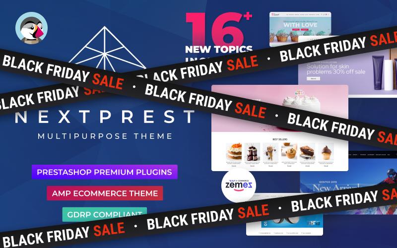 """Nextprest  - Website Ecommerce Online Store"" thème PrestaShop adaptatif #76952"