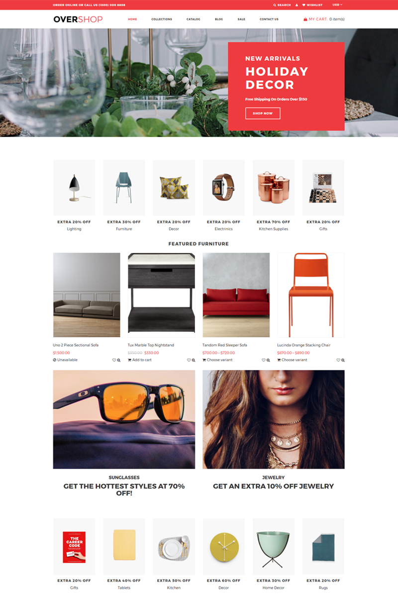 """""""Overshop - Wholesale Store Modern"""" 响应式Shopify模板 #76909"""