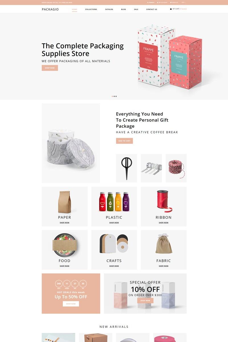 Packagio - Maintenance Clean Shopify Theme