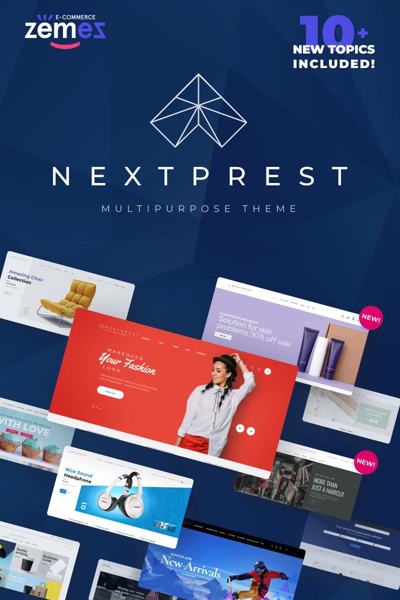 "PrestaShop Theme namens ""NextPrest - Website Ecommerce Online Store"" #76952"