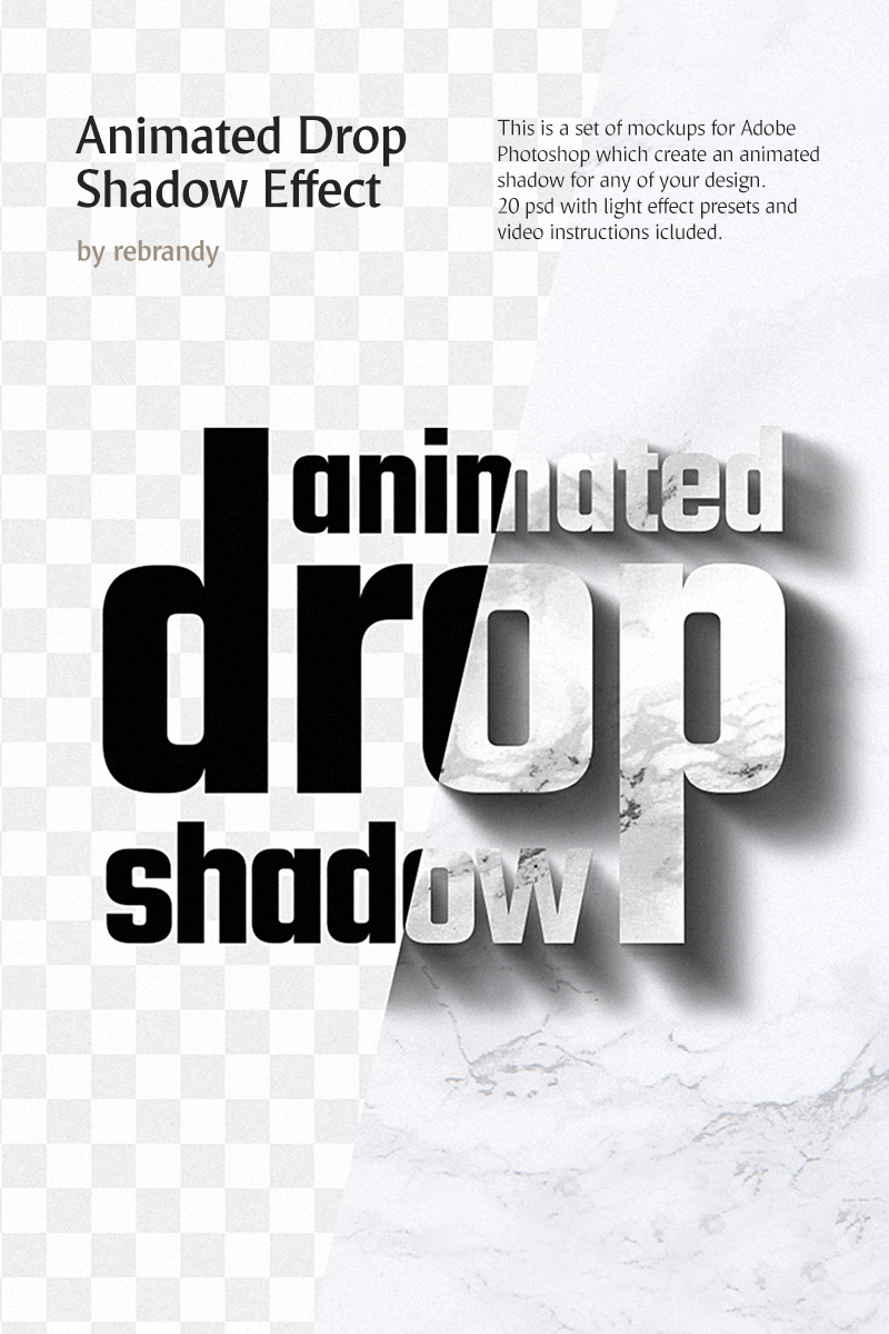 "Produktmodell namens ""Animated Drop Shadow Effect"" #76911 - Screenshot"