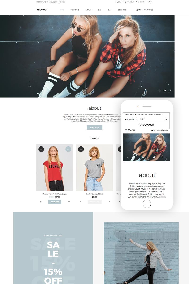 Responsywny szablon Shopify Theywear - T-shirt Shop Elegant #76910