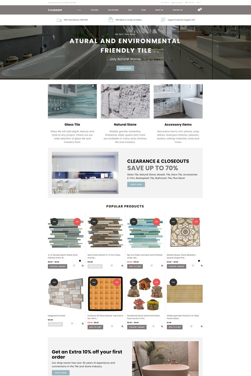 Tileshop - Interior & Furniture Clean Tema de Shopify №76940