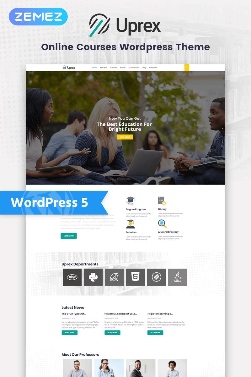 """Uprex - Education Multipurpose Modern Elementor"" 响应式WordPress模板 #76929"