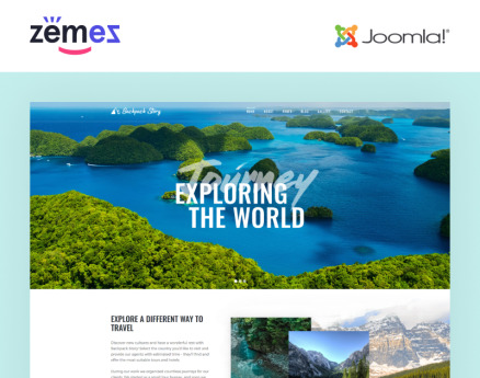 Backpack Story - Travel Agency Multipage Modern Joomla Template