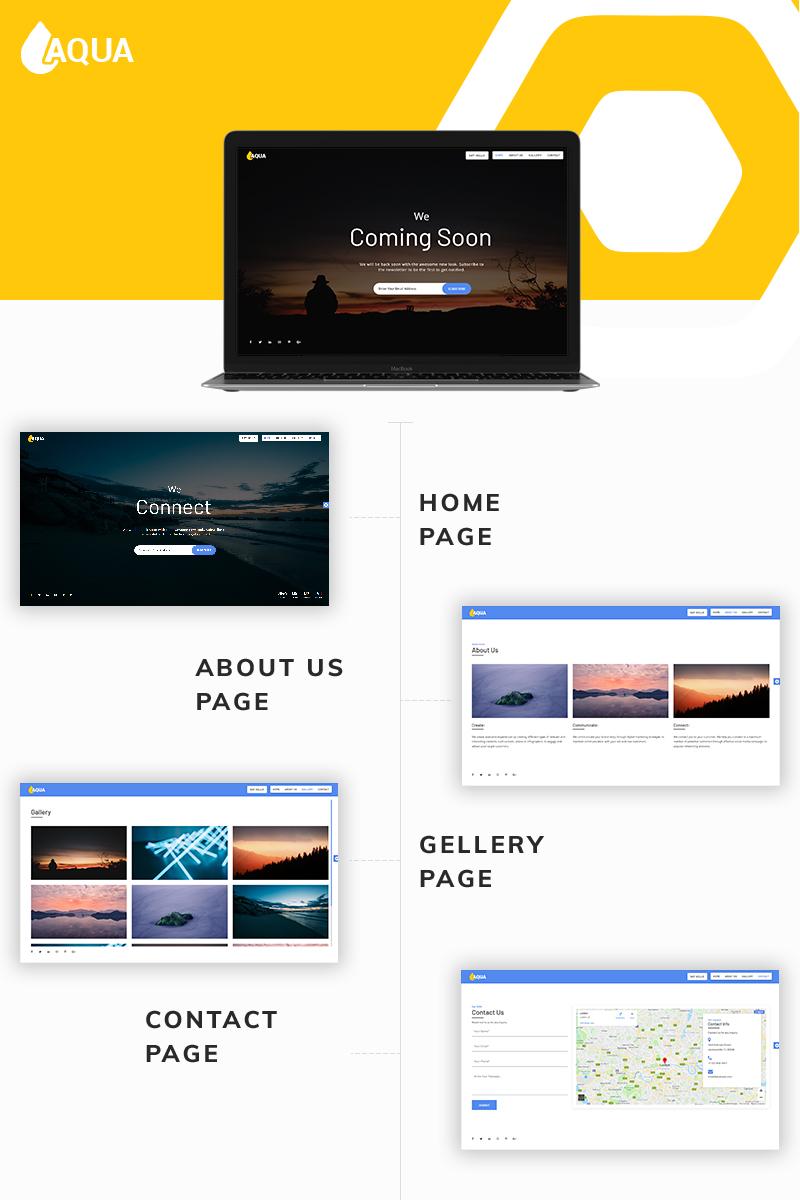 """""""Aqua Coming Soon"""" page de spécialité  #77066"""