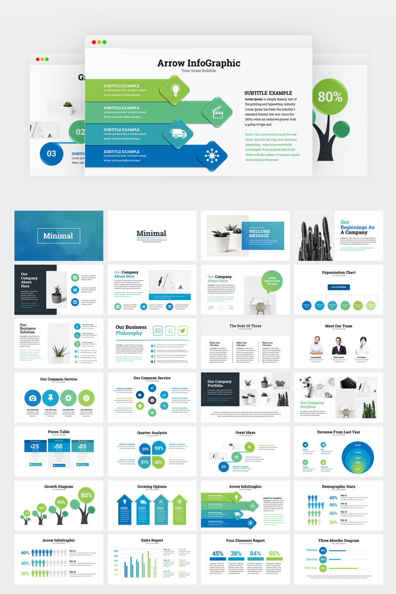 """Business Infographic Presentation"" modèle Keynote  #77068 - screenshot"