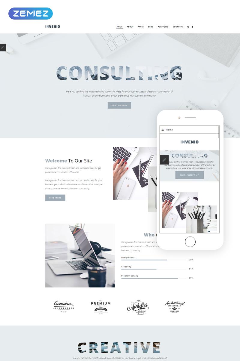 INVENIO - Consulting Ready-to-Use Corporative Joomla Template