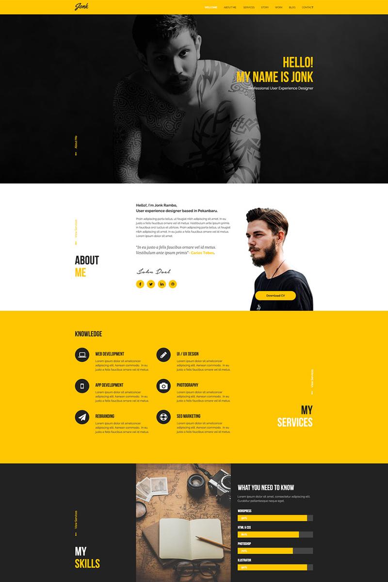 JONK - Resume Personal PSD Template