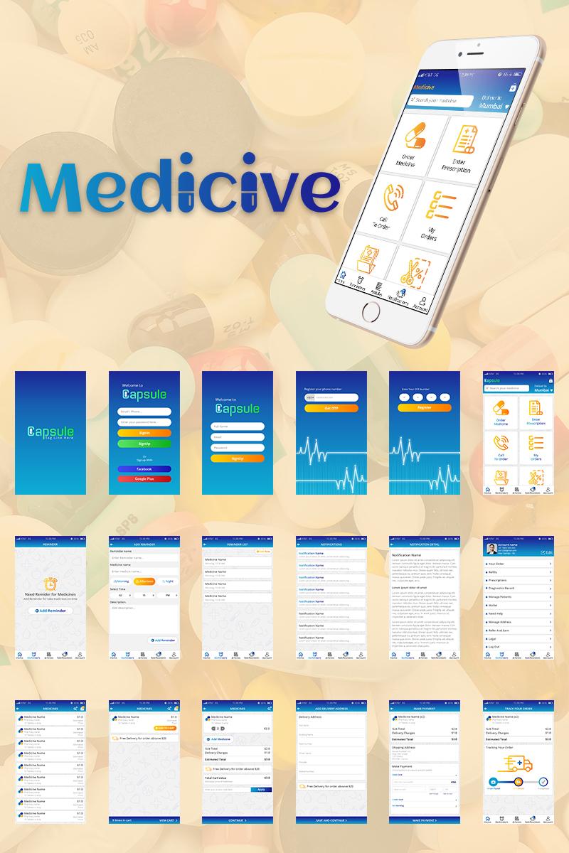 Medicive Mobile UI PSD Template