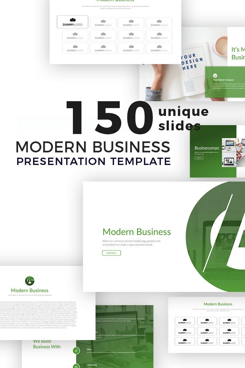 Modern Business Presentation Powerpoint #77067 - Ekran resmi