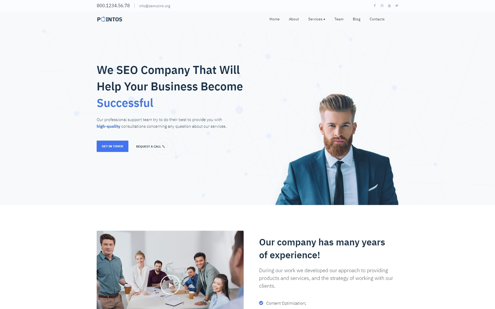 """Pointos - SEO Consulting Multipurpose Modern Elementor"" Responsive WordPress thema №77079"