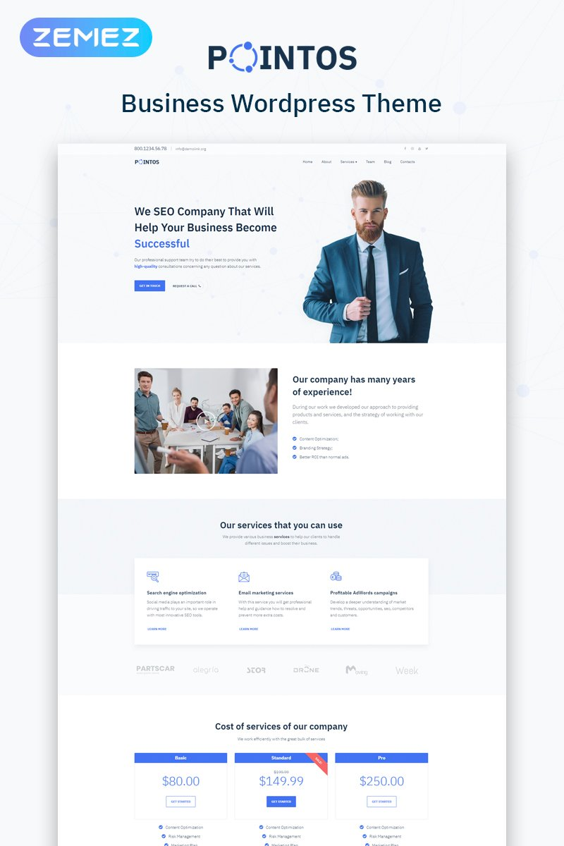 Pointos - SEO Consulting Multipurpose Modern Elementor WordPress Theme