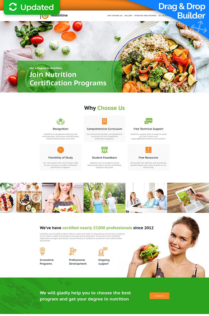 Responsivt Healthline - Nutrition Landing Page-mall #77045