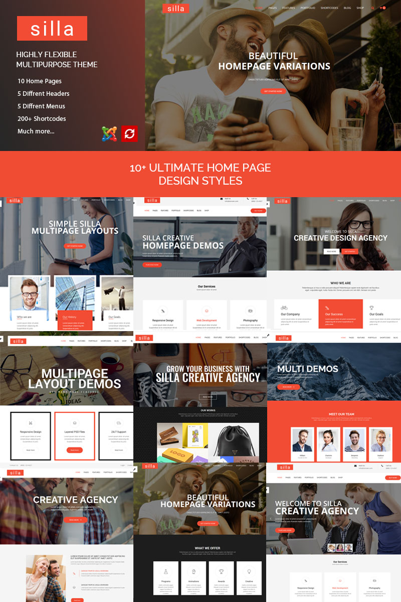 Responsywny szablon Joomla Silla | Responsive Multipurpose #77062