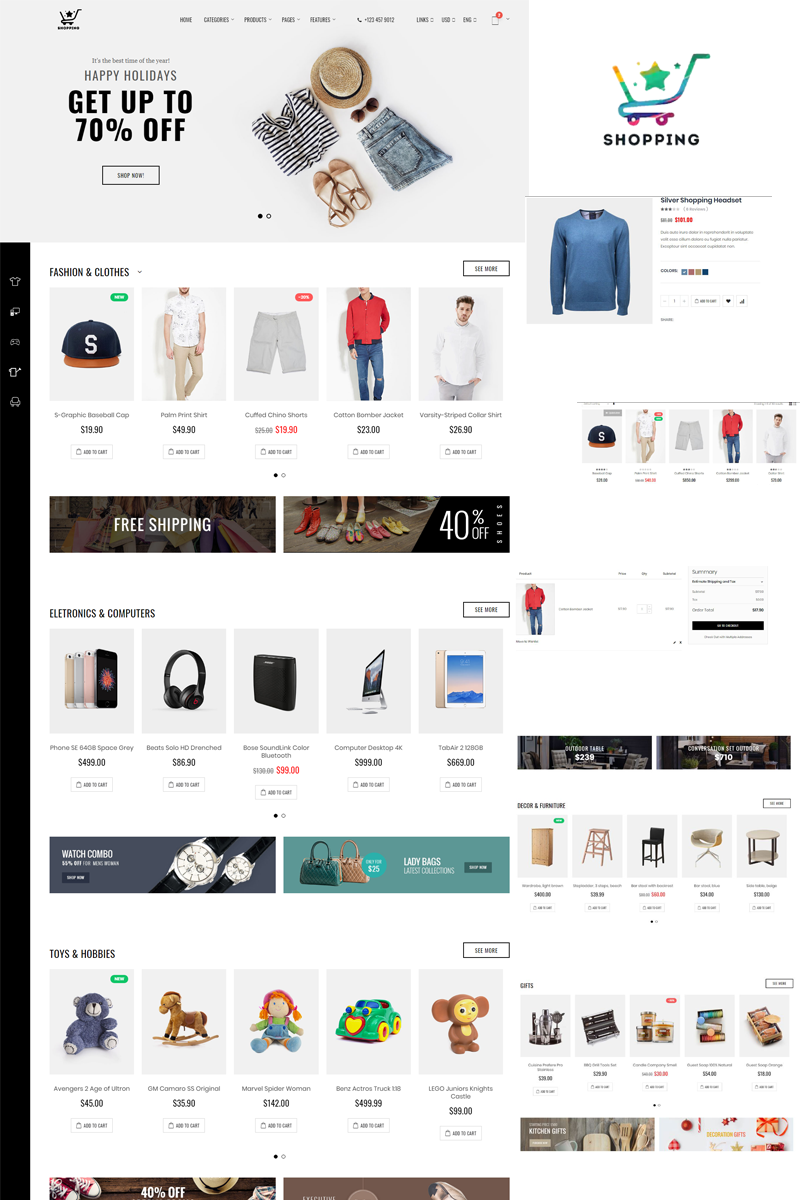 Shopping Bootstrap Ecommerce Website Template 77038