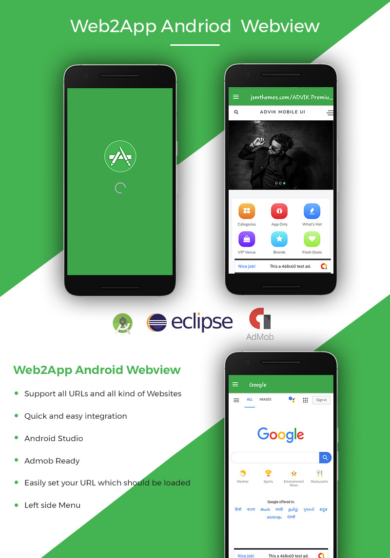 Web2App Android Webview App Template