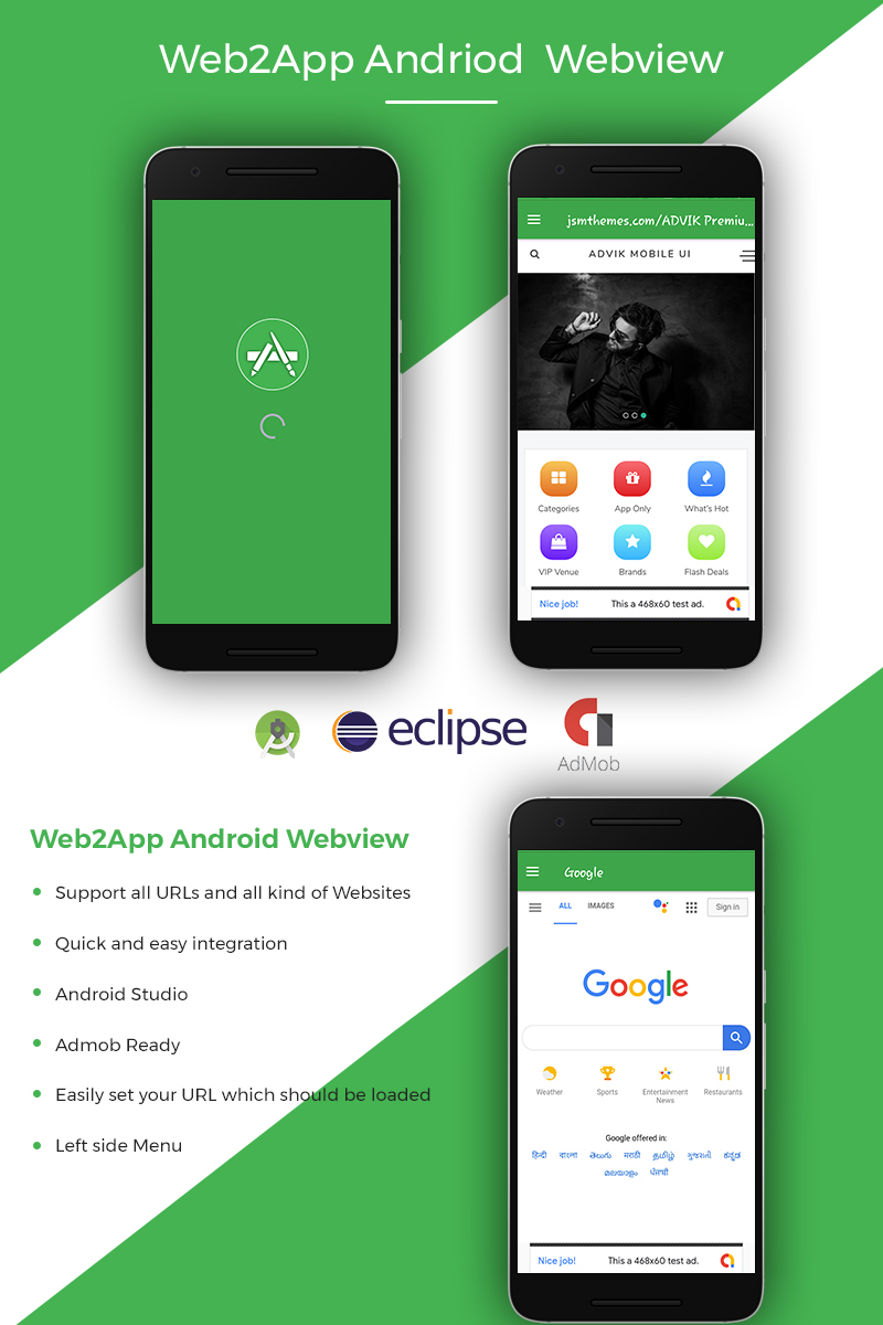 """Web2App Android Webview"" modèle d'application  #77037"