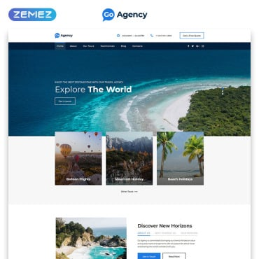 Travel Landing Page Template | Website Templates