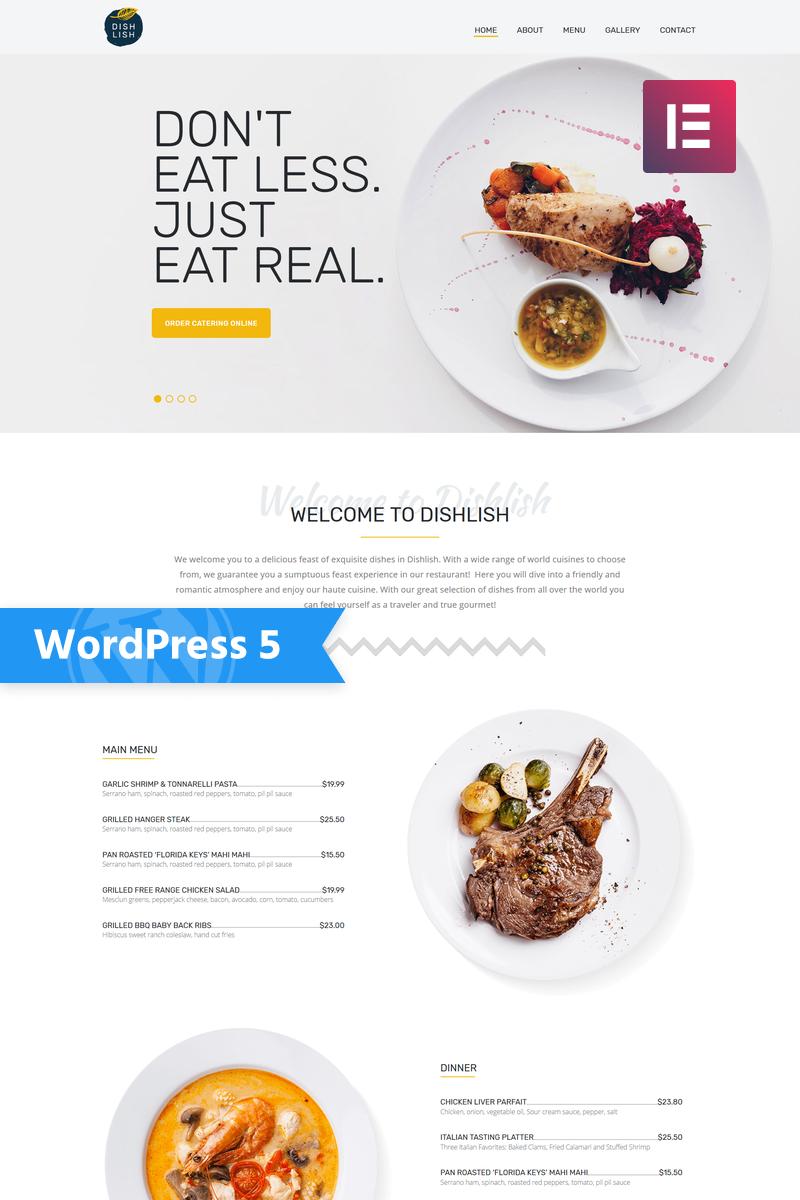 """Dishlish - Restaurant Multipurpose Classic Elementor"" Responsive WordPress thema №77146"
