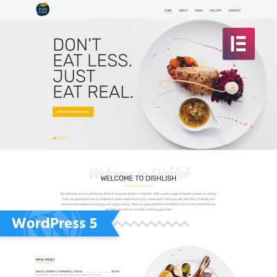 Flexível tema WordPress №77146 para Sites de Restaurante Europeu