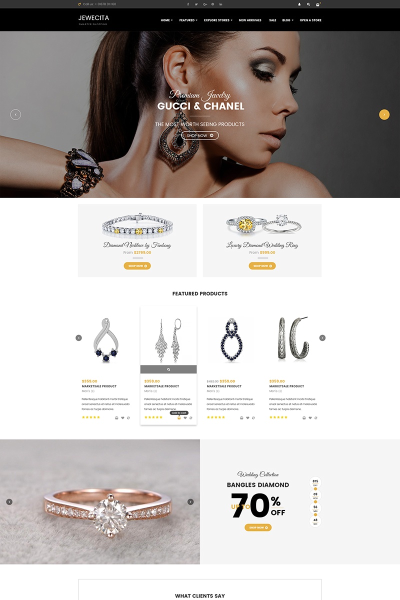 Jewecita - Sectioned Responsive Jewelry Store Shopify Theme - screenshot