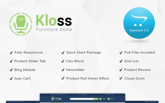 Kloss Furniture Store Responsive OpenCart Template