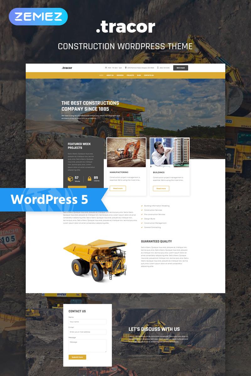 Tracor - Construction Multipurpose Modern Elementor WordPress Theme