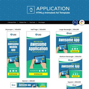 Купить  пофессиональные Animated Banners. Купить шаблон #77242 и создать сайт.