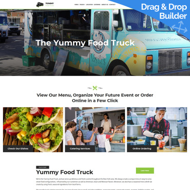Stylish Food Truck Website Template