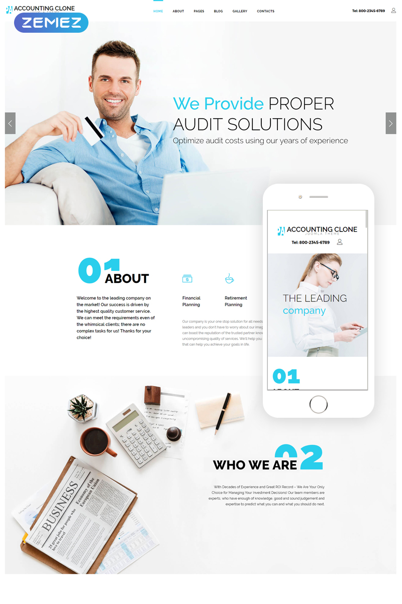 Accounting - Audit Solutions Clean Joomla Template