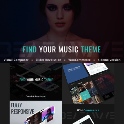 Beatswave - Creative Music WordPress Theme #77238