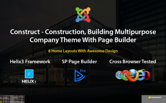 Construct - Construction, Building Joomla Template