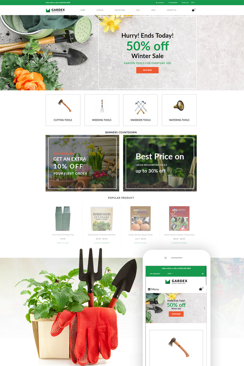Gardex - Gardening Clean Shopify Theme