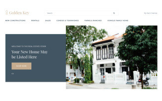 Golden Key - Real Estate Clean OpenCart Template