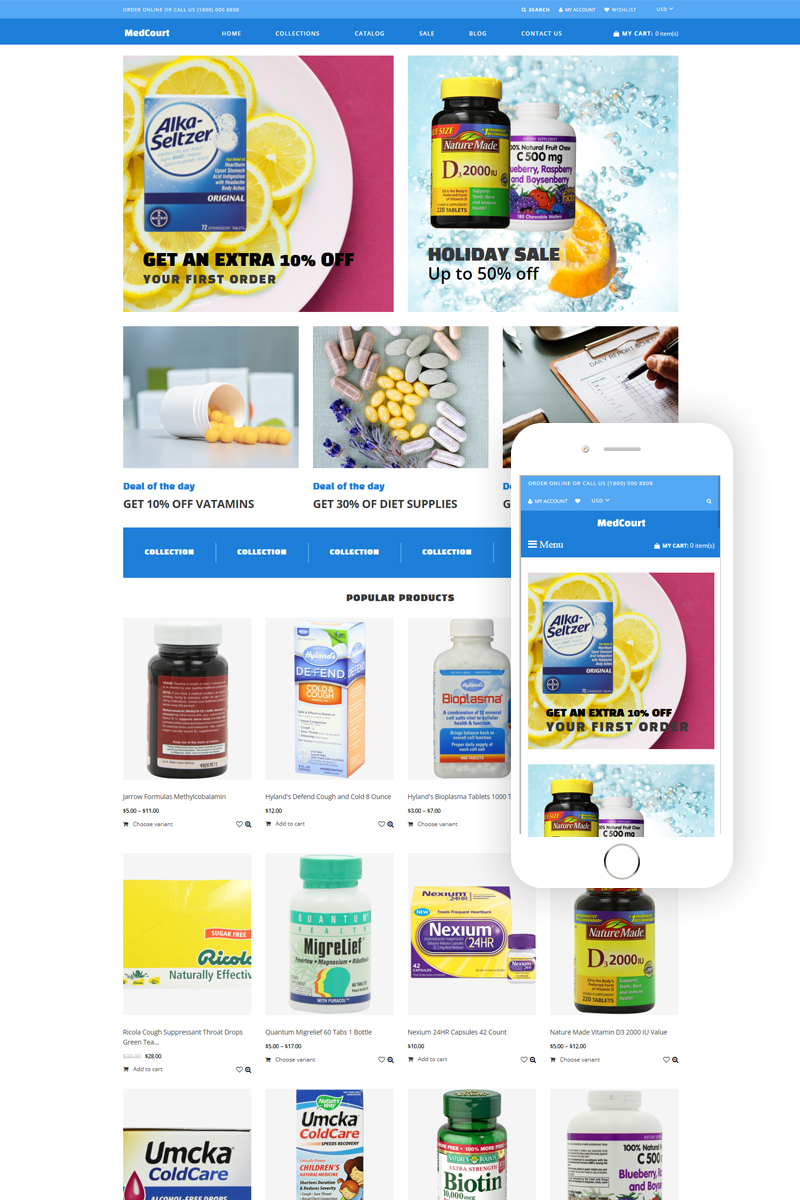 MedCourt - Pharmacy Clean Shopify Theme
