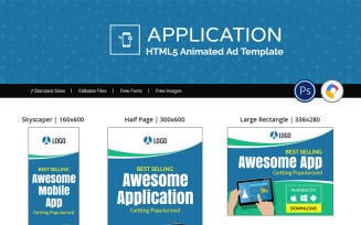 Mobile Application Ad Animated Banner