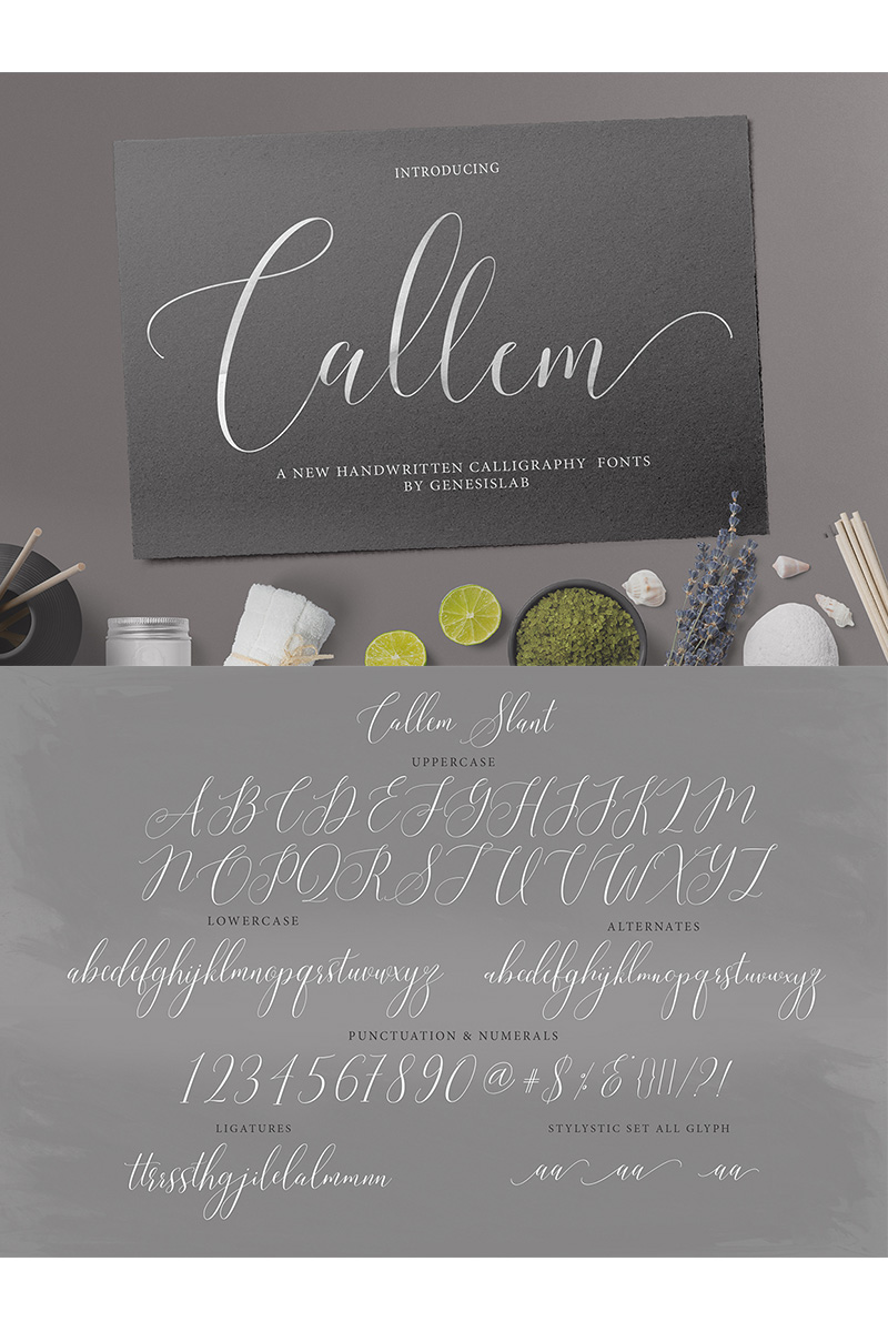 """Modello Font #77201 """"Callem Script"""""""