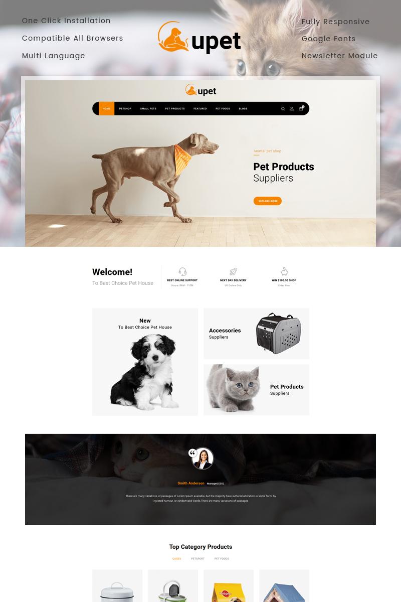 "Modello OpenCart Responsive #77237 ""Upet Pets Store"" - screenshot"