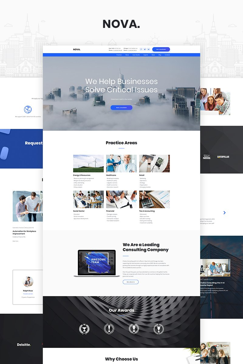 Free Consulting Templates Templatemonster